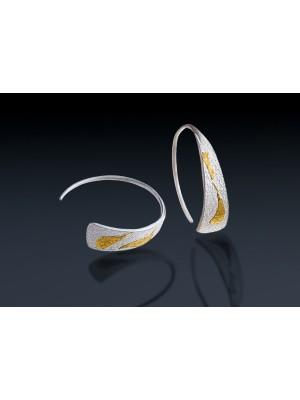 "BOUCLES D'OREILLES HALF CIRCLE ""WHITE"" BIG"